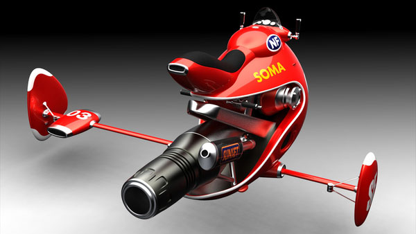 Flying Jetbike by Norio Fujikawa, cool-3d-concept