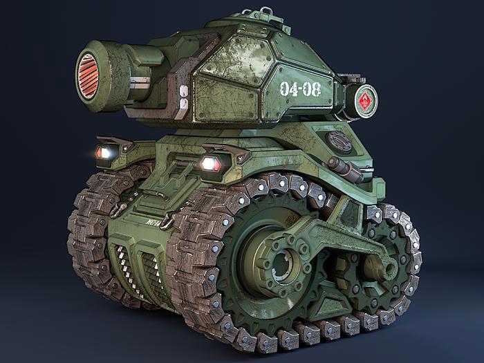 Chibi Tank by Moran Goldstein