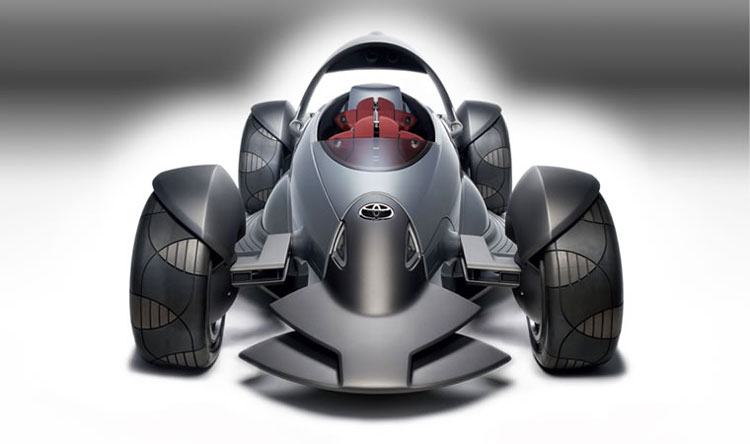Toyota MTRC, Motor Triathlon Race Car, electric & hydrogen off-road sports concept. 2004 Toyotas future tandem two seat race car. cool-3d-concepts.