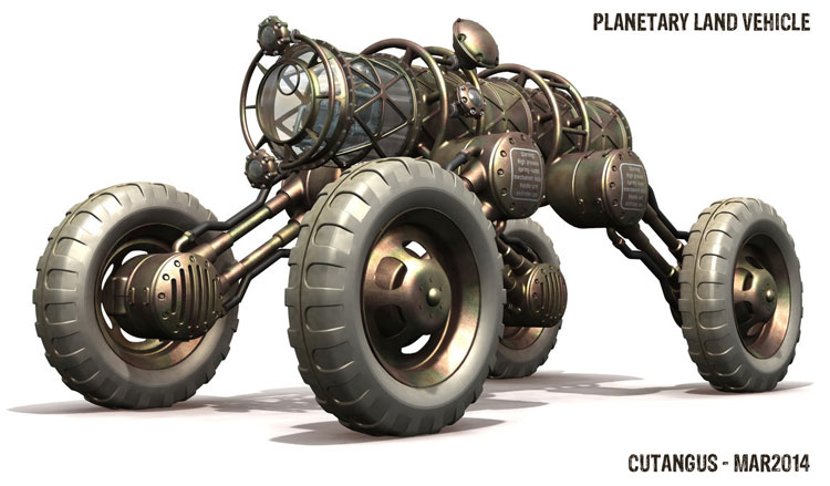 Planetary Land Rover vehiecle by Cutangus (Jose Garcia)