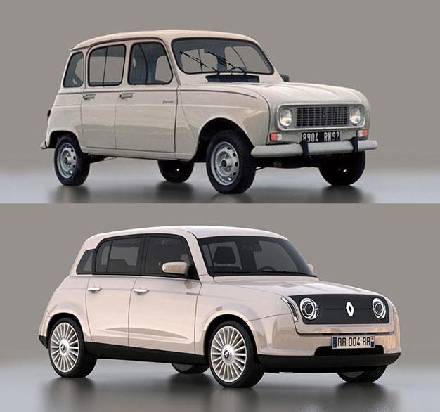 Retro styled Renault 4