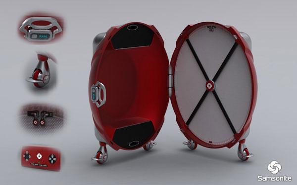 Futuristic Samsonite luggage concept Damnjan Mitic cool-3d-concept
