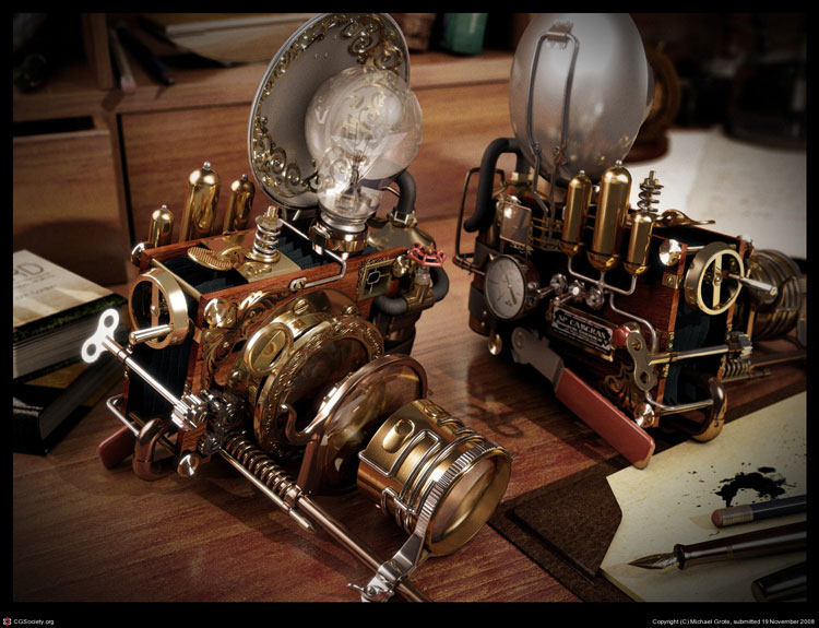 Steampunk-Camera-Michael-Grote cool-3d-image