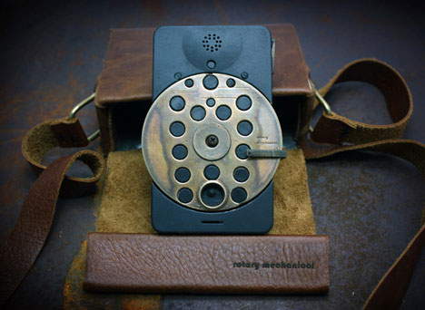 Rotary mechanical smartphone by Richard Clarkson