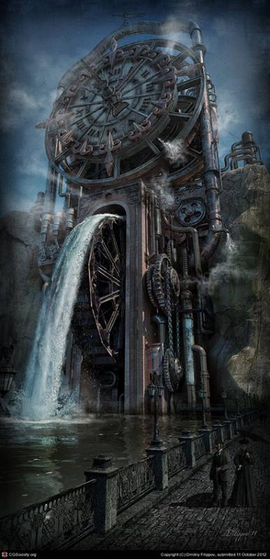 The Time Machine by Dmitriy Filippov cool-3d-concept, steampunk