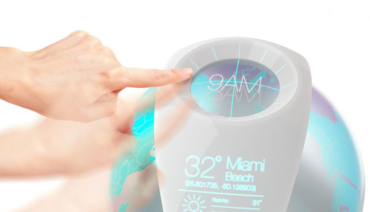 Air Globe Electrolux concept simulates any weather on the Earth adjusting temperature, humidity and smell,  with real time data  around the World.