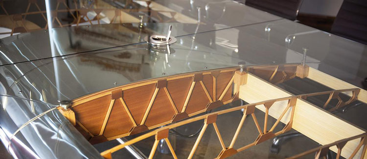 Southern California company MotoArt, features recycled plane parts as the foundation for the modern, sleek piece of furniture. Awesome, but pricey results.