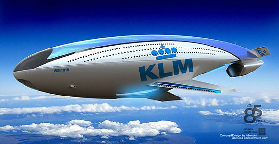 KLM futuristic Airplane WB-1010 promises to revolutionize flight travel in 85 years. helium injected body, carrying 1500 people at a max speed of 620mph.