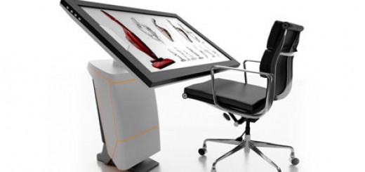 iSpace designers Workstation merges classic drawing board and a tablet into one unit. Jameel Kamil's concept. cool 3d concepts.