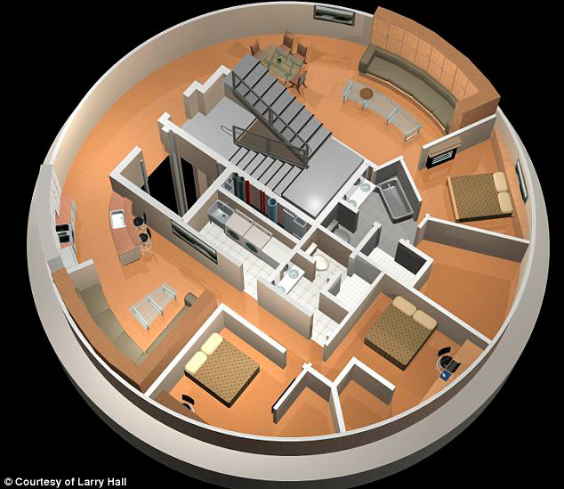 Luxury Atomic Shelters Larry Hall converted underground missile silo in Kansas in to luxury condos built to withstand atomic blast. Prices 2 million dollars.