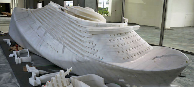 3d printed Noah's Ark by Hung-Chih Peng is a 26 foot sculpture on display at the Taipei Fine Arts Museum. Made from 100,000 parts using 30 printers. The Deluge: Noah's Ark.