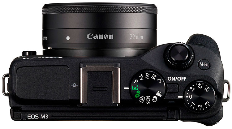Canon EOS M3 is Canon's latest attempt to make mirrorless camera. Better autofocus, touch tilt screen, optional EVF. Looks good not available in America.