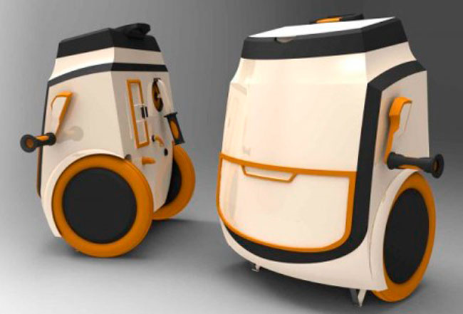 Kingfisher Portable Washing Machine, manually operated washing machine for developing World. Can help cut pollution, spread of disease. Designer Robert Forrester.