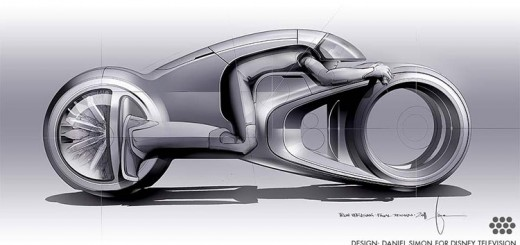 Tron-Uprising-Light Cycle cool-3d-concepts-Daniel-Simon-sketch-book
