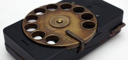 Steampunk rotary smartphone Richard Clarkson