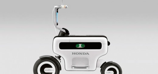 Honda Motor Compo - foldable electric scooter, total length and height under 1 meter with removable battery, from 2011 Tokyo Motor Show.