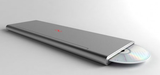 Feno Foldable Notebook by Niels Van Hoof lean and sleek aluminum look flexible OLED display. Folded just slightly wider than the diameter of a DVD.